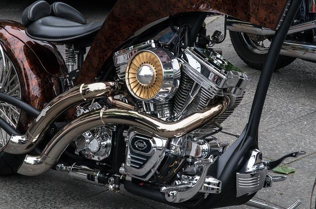 Moteur Harley chrome